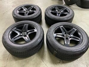 Mercedes Gwagen G550 G55 G500 Amg Factory Oem Black 19 Wheels Rims Tires