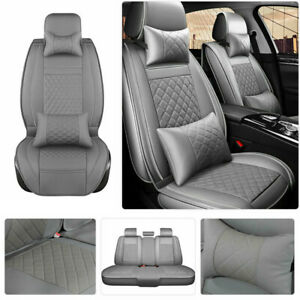 Full Deluxe 100 Pu Leather Car Suv Seat Covers Front Rear Cushion Universal Set