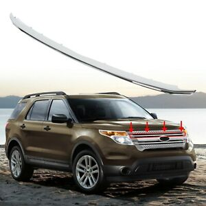 For Ford Explorer 2011 2015 Grille Trim Grill Lower Chrome Panel New