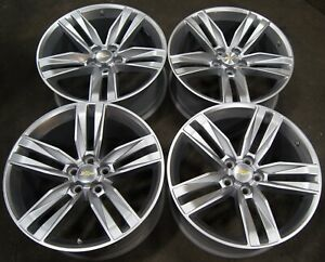 Chevy Camaro 20 Painted Silver Factory Oem Wheels Rims 5761 5765 2016 20 1996