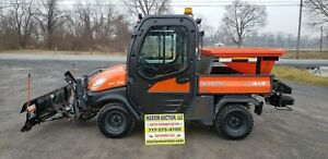 2013 Kubota Rtv 1100 Fully Loaded Cab Only 844 Hours Snow Plow And Spreader