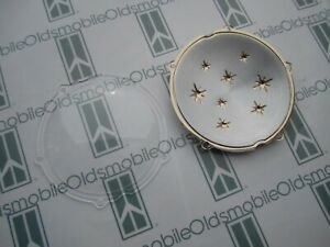 1956 Oldsmobile 88 98 Hood Plastic Star Emblem With Clear Cover Kit