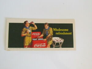 Coca Cola 1942 Boy Scouts Wholesome Refreshment Ink Blotter Card unused