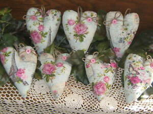 7 Fabric Hearts Bowl Fillers Valentin S Day Wreath Accents Paris Home Decor