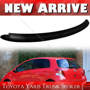 Unpainted Fit For Toyota Yaris 2nd Hatchback Oe Type Roof Spoiler 06 11 Le Rs