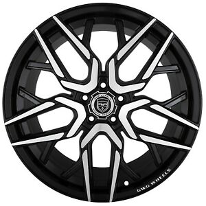 4 G44 Nigma 20x10 Inch Black Rims Fits Dodge Avenger Sxt Rt 2008 2010