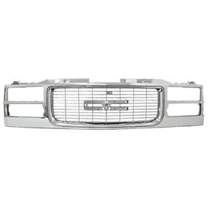 New All Chrome Grille For 94 99 Gmc Ck Truck Yukon Suburban Gm1200448