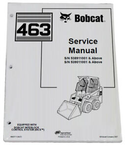Bobcat 463 Skid Steer Loader Service Manual Shop Repair Book 2 Part 6903711