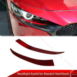 Headlight Eyelid Eyebrow For Mazda3 Mazda 3 Bp Hatchback Dto Type Painted