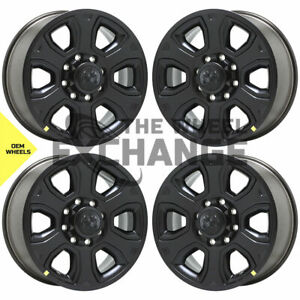 20 Dodge Ram 2500 3500 Truck Black Wheels Rims Factory Oem Set 4 2014 2018 2477