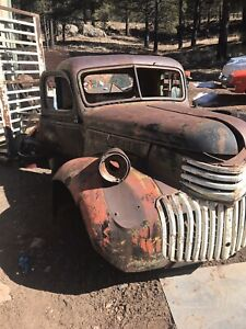 1941 To 46 Chevrolet Cab And Front Clip Restoration Rat Rod Yard Art Patina