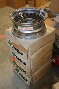 Et Mags 14x7 Chrome charcoal 4 Bolt Nos Complete Set Of 4
