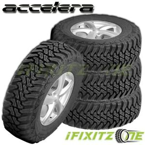 4 Accelera Mt 01 35x12 50r18 123q E 10pr Jeep Truck Suv All season Mud M t Tires