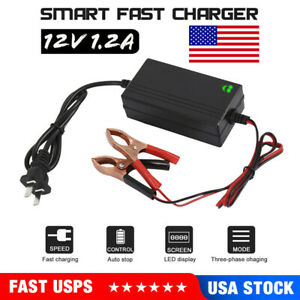 New Car Charger 12v Portable Volt Automatic Car Battery Float Trickle Charger Rv