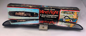 Vintage 1976 Hind Sight Giant Panoramic Rear View Mirror By Dynamic Classics