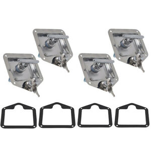 4x Stainless Steel Folding T Handle Lock Latch For Trailer Truck Camper Tool Box