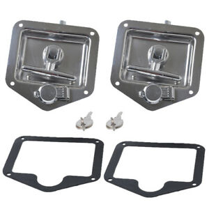 2x Stainless Steel Folding T Handle Lock Latch For Trailer Truck Camper Tool Box