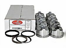 Sbc Pistons Moly Rings Set 8 040 4 040 Bore Flat Top For Chevy 350