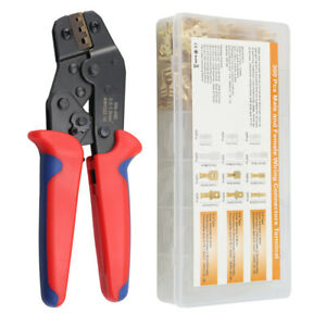 Sn 48b Crimping Tool Wire Cable Crimper Pliers W 600pcs Ferrule Terminals Set
