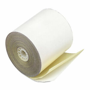 Iconex Impact Printing Carbonless Paper Rolls 2 25 X 70 Ft White canary