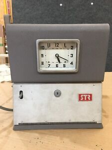 Simplex Time Clock Punch Card Recorder Model P131 s 6 No Key For Parts repair