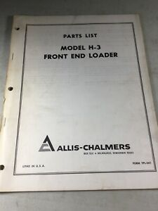 Allis Chalmers H3 Front End Loader Parts Manual