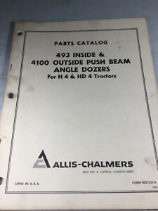Allis Chalmers 493 Inside And 4100 Outside Angle Dozers Parts Manual