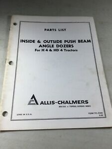 Allis Chalmers Inside And Outside Angle Dozers Parts Manual For H4
