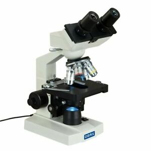 Omax 40x 2500x Lab Binocular Compound Led Biological Microscope Mechanical Stage