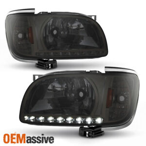 Fits 2001 2004 Toyota Tacoma Replacement Smoked Led 1pc Headlights W Corner Lamp