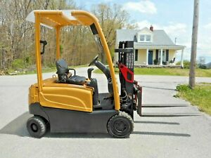 2011 Hyster J35xn 3500 Lbs Solid Tire Forklift Tow Motor Electric Fork Truck