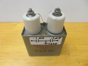 Aerovox No 6912 Capacitor 1 Uf 7000 Vdc High Voltage Lepel Generator