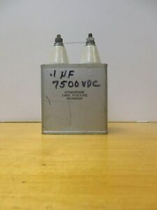 Micamold Capacitor 1 Uf 7500 Vdc High Voltage Lepel Generator