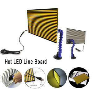 Paintless Dent Removal Repair Usb Led Line Board Light Scratch Reflector Set