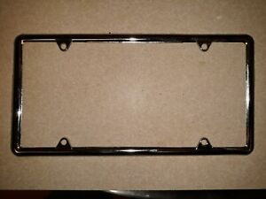 Chrome Slim 4 Hole Stainless Steel License Plate Frame Shipping From The Us