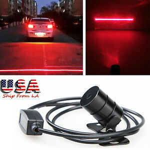 Red Rear Laser Led Fog Light Anti Collision Warning Brake Tailight Universal Fit
