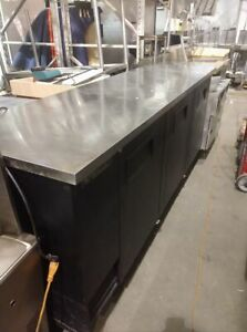 True Back Bar Cooler With Legs