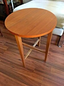 Danish Modern Teak Side Table Planter Stand Hundevad Design Teak Mid Century