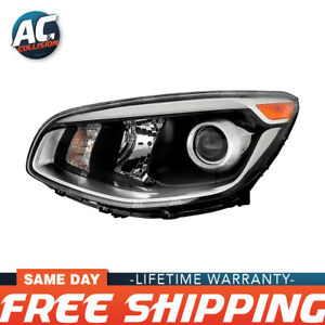 20 9518 90 Projector Headlight Assembly Black Left Side For 17 19 Kia Soul Lh