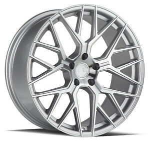 20x10 5 35 Aodhan Ls009 5x114 3 Silver Machined Face Rims Set Of 4