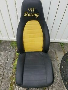 Porsche 944 911 Right Passenger Seat Leather Black And Yellow