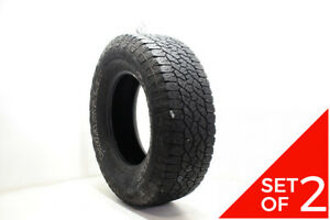 Set Of 2 Used Lt 285 70r17 Goodyear Wrangler Trailrunner At 121 118r 7 32