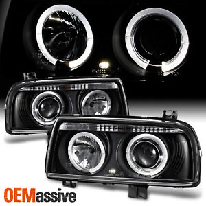 Fits 93 98 Jetta Mk3 Dual Halo Projector Headlights Lamps Lights Left right Pair