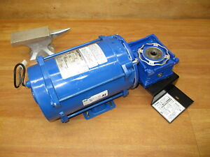 Bluffton 1121007441 Electric Motor 1 2 Hp 5964 Gear Reducer 25 1 Explosion Proof