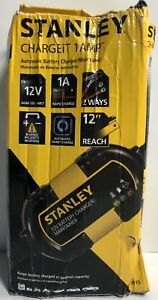 Stanley Chargeit 1 Amp Auto Battery Charger Maintainer Car Moto Atv Snowmobile