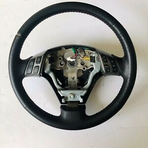 2004 09 Mazdaspeed Mazda 3 Speed Oem Steering Wheel Black Leather Red Stitching