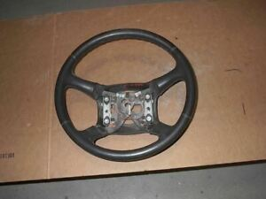 Used 02 Silv2500 Leather Wrapped Black Steering Wheel worn 27394