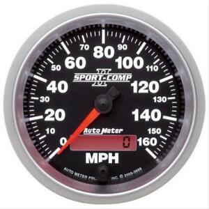Autometer Sport comp Ii Analog Speedometer 0 160 Mph 3 3 8 Dia Electrical 3688