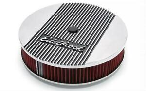 Edelbrock 4268 Air Cleaner Round Elite 2 Series 14 00 Diameter Polished Ea