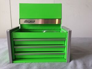 Snap On Extreme Green Mini Micro Top Chest Tool Box Rare Brand New